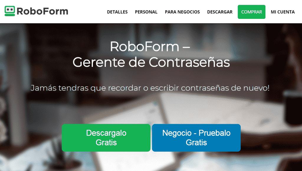 gerente de contraseñas RoboForm